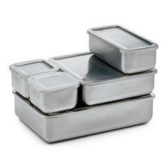 Stainless steel food storage