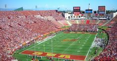 Los Angeles Memorial Coliseum, home to USC football and the largest stadium in the PAC 12 Conference