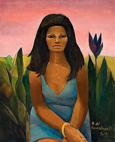Mulatto(1969) - Oil on Canvas - Di Cavalcanti.