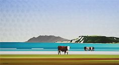 Brian Dahlberg // Unwelcome Visitor #Art #Landscape #Oil #Painting #NewZealand