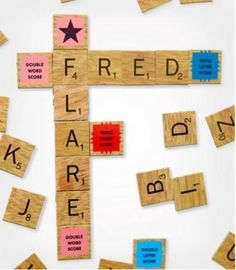 Scrabble Magnets- Geeky Stocking Stuffers
