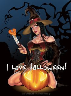 I love Halloween by *chatgr on deviantART