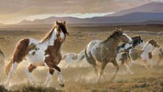 Idea for horse wall mural