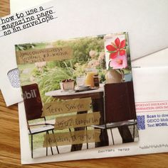 Make an envelope out of a magazine page {5 minute paper craft}