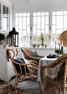 rattan chair, kitchen tables, window, inspir, dream porch, enclosed porches, space, kitchen ideas, white kitchens