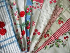 Vintage Cherry Linens perfect to spread around the party table