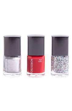 #Nordstrom 'Red Sparkle' Mini #Nail Lacquer Trio #Holiday #Gift
