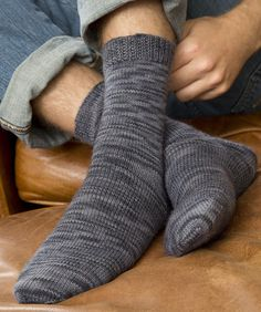 Socks for Him Free Knitting Pattern from Red Heart Yarns