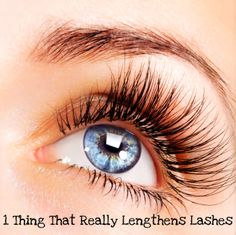 1 Thing That Really Lengthens Lashes