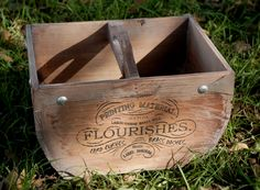 Typographers Crate with Handle $29 each / 3 for $28 each