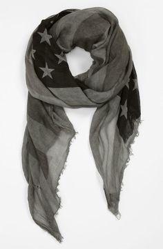 Flag print scarf <3
