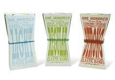 Creative rubber band packaging