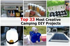 Top 33 Most Creative Camping DIY Projects camping projects, creativ camp, camp project, diy projects