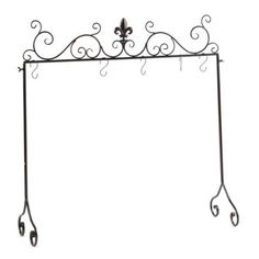 For those of us without mantles, a fleur de lis stocking holder!  $24.99