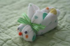 Boo-boo bunny - a little ice cube feels much better in a washcloth bunny.