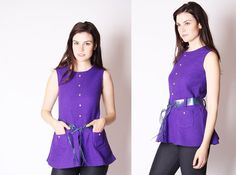 Deadstock 1960s Top  60s Tops  Vintage 60s Mod Top  by aiseirigh, $74.00