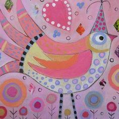 draw, bird paintings, folk art, art paintings, colors, art prints, collag, paint recipes, birds