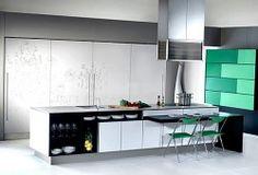 Cocina y logias on pinterest red kitchen green kitchen - Muebles de cocina modernos ...
