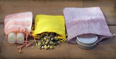 Easy herbal gift bag dying project.