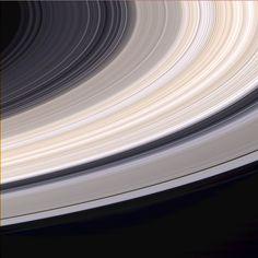 Saturn's Rings in Natural Color