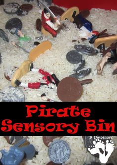 Pirate Sensory Bin for Kinders