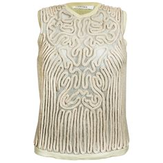 Rope Detailed Knit Top in Cream