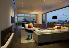 love the roll door for this interior/exterior space