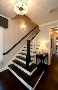 Transitional Staircase Design Ideas, Pictures, Remodel, and Decor