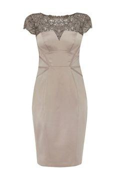 Vintage Lace Yoke Dress OASAP.com Love the lace on this dress!