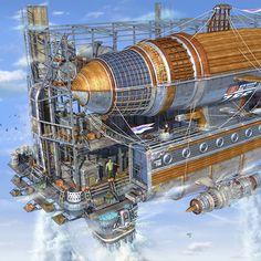 Airship by Alexey Starodumov, via Behance
