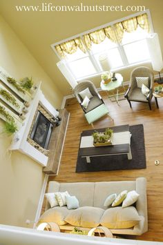 Beautiful Living Room re-decorated on a tiny budget!