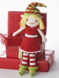 Lily the Christmas Elf | Yarn | Free Knitting Patterns | Crochet Patterns | Yarnspirations
