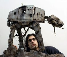 What would an abandoned AT-AT look like.