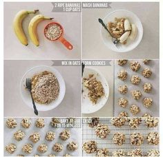two ingredient healthy cookies: banana & oats