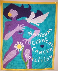 Cervical cancer awareness quilt
