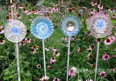 How To Make Glass Garden Art Flowers. And Drill Through Glass. - Empress of Dirt