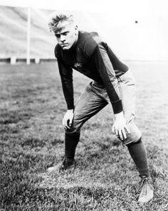 Gerald Ford, football star.