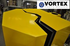 The V-Notched Door is designed to allow for easier loading and unloading of parts. The recess in the top of the cabinet allows for parts to be loaded directly over the center of the turntable from an overhead crane. This availability enables users to avoid unsafe loading and unloading of heavier parts with attached tables to the doors. Learn more by visiting www.vortexpartswashers.com