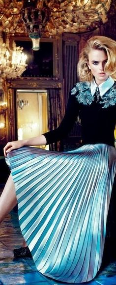 blue, skirt fashion