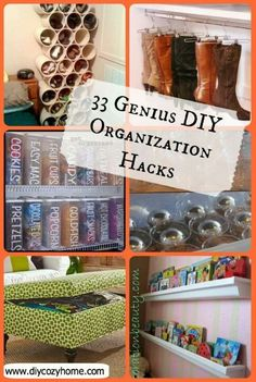 33 organization tips http://diycozyhome.com/33-genius-diy-organization-hacks/