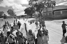 Impromptu Malaria March in Mozambique malaria march, impromptu malaria