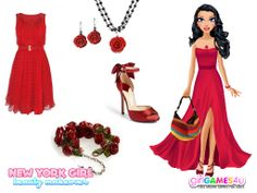 Friday night is #party night! Look #gorgeous in a fab #red dress!***  #Game's link: http://www.girlgames4u.com/new-york-girl-beauty-makeover-game.html