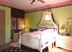 Green brown bedrooms on pinterest - Lime green walls in bedroom ...