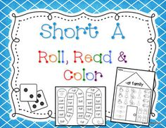 Short A Roll, Read, Color Freebie Game