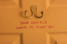 hook, drunk octopus, laugh, sucker punch, picture this, asheville, funni, door, octopuses
