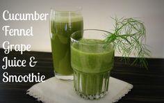 shannonkarasik fennelfriday, grape smoothi, fennel smoothi, drink recip, refresh cucumb