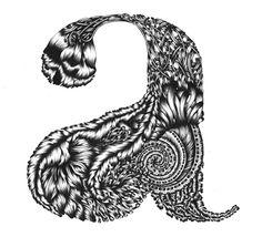 """""""A"""" from Yuko Michishita's Illustrative Alphabet. #typography #glyph"""
