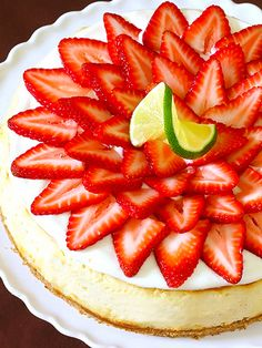 Strawberry Margarita Cheesecake #recipes #drinks