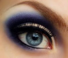 blue smokey eyes  eyeshadow #makeup - for more #beauty #look, MyBeautyCompare Pinterest #contour #bronzer #eyeliner #eyes #lips #shadows #brows #ponytail #bbloggers #face #chic #amazing #perfect #stunning #pretty #chic #glam #flawless #posh #formal #brighten #idea #inspiration