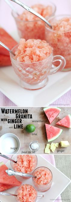 Watermelon Granita with Ginger and Lime